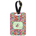 Retro Fishscales Aluminum Luggage Tag (Personalized)