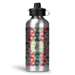 Retro Fishscales Water Bottle - Aluminum - 20 oz (Personalized)