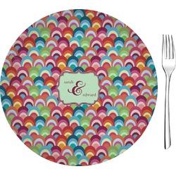 Retro Fishscales Glass Appetizer / Dessert Plates 8