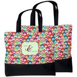 Retro Fishscales Beach Tote Bag (Personalized)