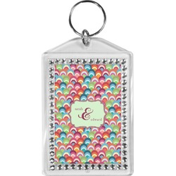 Retro Fishscales Bling Keychain (Personalized)
