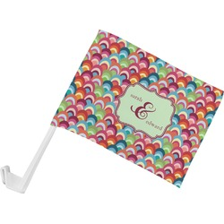 Retro Fishscales Car Flag (Personalized)