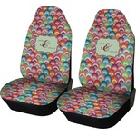 Retro Fishscales Car Seat Covers (Set of Two) (Personalized)