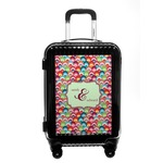 Retro Fishscales Carry On Hard Shell Suitcase (Personalized)