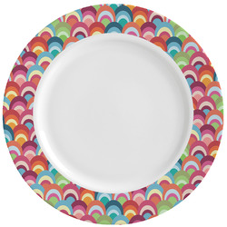 Retro Fishscales Ceramic Dinner Plates (Set of 4) (Personalized)