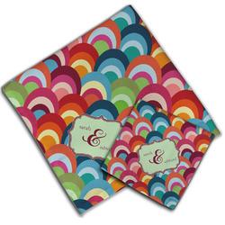 Retro Fishscales Cloth Napkin w/ Couple's Names