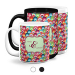Retro Fishscales Coffee Mugs (Personalized)