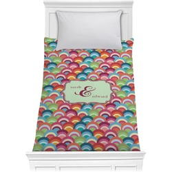 Retro Fishscales Comforter - Twin (Personalized)