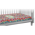 Retro Fishscales Crib Fitted Sheet (Personalized)