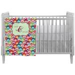 Retro Fishscales Crib Comforter / Quilt (Personalized)