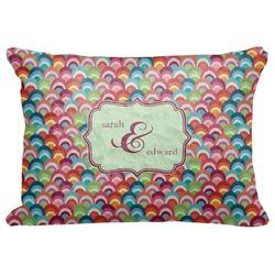 "Retro Fishscales Decorative Baby Pillowcase - 16""x12"" (Personalized)"