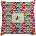 Retro Fishscales Decorative Pillow Case (Personalized)