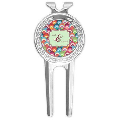 Retro Fishscales Golf Divot Tool & Ball Marker (Personalized)