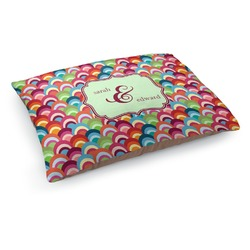Retro Fishscales Dog Pillow Bed (Personalized)
