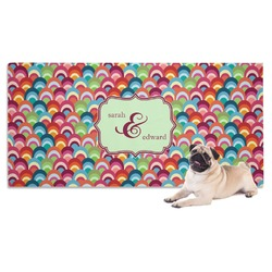 Retro Fishscales Pet Towel (Personalized)