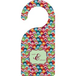 Retro Fishscales Door Hanger (Personalized)