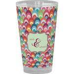 Retro Fishscales Drinking / Pint Glass (Personalized)