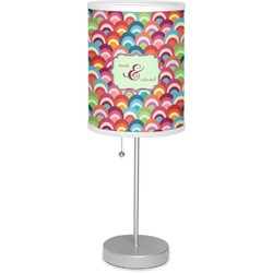 "Retro Fishscales 7"" Drum Lamp with Shade (Personalized)"