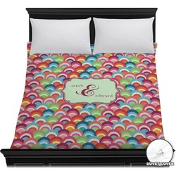 Retro Fishscales Duvet Cover (Personalized)