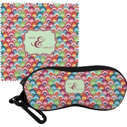 Retro Fishscales Eyeglass Case & Cloth (Personalized)