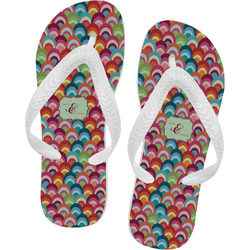 Retro Fishscales Flip Flops (Personalized)