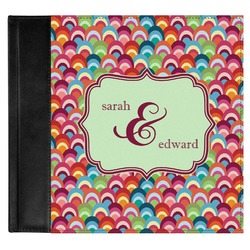 Retro Fishscales Genuine Leather Baby Memory Book (Personalized)