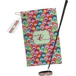 Retro Fishscales Golf Towel Gift Set (Personalized)