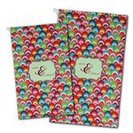 Retro Fishscales Golf Towel - Full Print w/ Couple's Names
