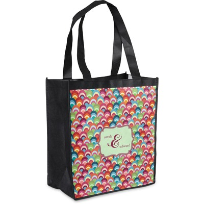 Retro Fishscales Grocery Bag (Personalized)