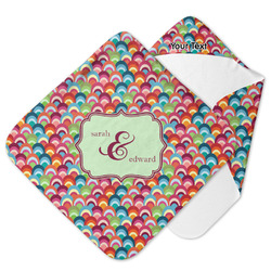 Retro Fishscales Hooded Baby Towel (Personalized)