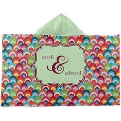 Retro Fishscales Kids Hooded Towel (Personalized)