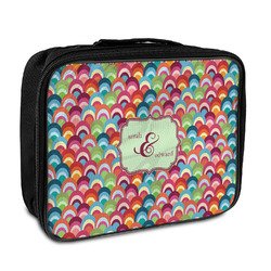 Retro Fishscales Insulated Lunch Bag (Personalized)