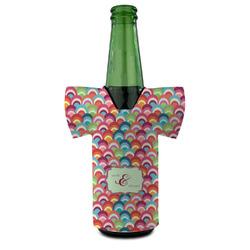Retro Fishscales Bottle Cooler (Personalized)