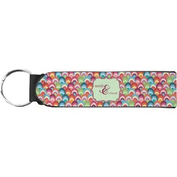 Retro Fishscales Keychain Fob (Personalized)