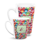 Retro Fishscales Latte Mug (Personalized)