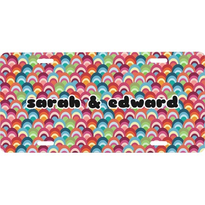Retro Fishscales Front License Plate (Personalized)