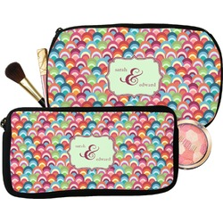 Retro Fishscales Makeup / Cosmetic Bag (Personalized)