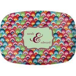 Retro Fishscales Melamine Platter (Personalized)