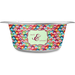 Retro Fishscales Stainless Steel Pet Bowl (Personalized)