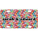 Retro Fishscales Mini / Bicycle License Plate (4 Holes) (Personalized)