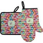 Retro Fishscales Oven Mitt & Pot Holder (Personalized)