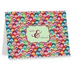 Retro Fishscales Note cards (Personalized)