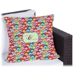 Retro Fishscales Outdoor Pillow (Personalized)
