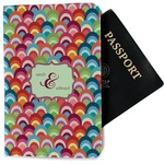Retro Fishscales Passport Holder - Fabric (Personalized)