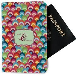 Retro Fishscales Passport Holder - Fabric (Personalized)