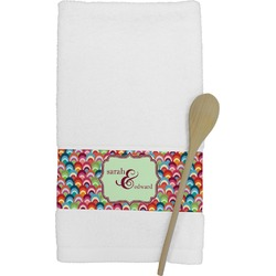 Retro Fishscales Kitchen Towel (Personalized)