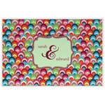 Retro Fishscales Laminated Placemat w/ Couple's Names