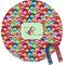 Retro Fishscales Personalized Round Fridge Magnet