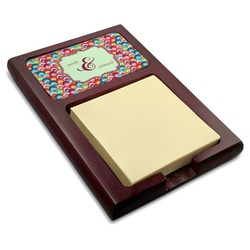 Retro Fishscales Red Mahogany Sticky Note Holder (Personalized)