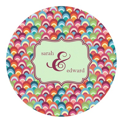 Retro Fishscales Round Decal (Personalized)